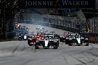Start. 06 ROSBERG nico (ger) mercedes gp mgp w06, VETTEL sebastian (ger) ferrari sf15t, HAMILTON lewis (gbr) mercedes gp mgp w06 action during the 2015 Formula One World Championship, Grand Prix of Monaco from on May 24th 2015,  in Monaco. Photo Florent Gooden / DPPI