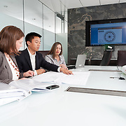 Advertising photography for GE. Advertising agency: The Barbarian Group. Meeting at the General Electric Centre for Innovation in Calgary, Alberta.