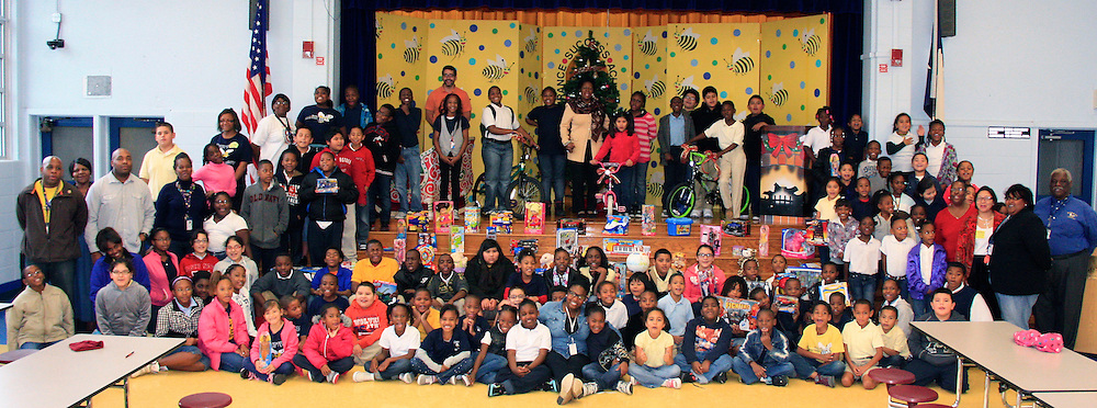 "Burrus ES has participated in the ""Congresswoman Sheila Jackson Lee Toys for Kids"" toy drive for the second year in a row. More than 271 toys and 7 bicycles were collected over the course of two years.<br />