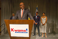 "State Senator, Kwame Raoul welcomes supporters Tuesday evening, March 20th, 2018 after finding out that he has won the Democratic race for Attorney General. Raoul received a call minutes before his speech from Pat Quinn who conceded the race. The event was held at the Sheraton Hotel located at 301 E. North Water Street.<br /> <br /> Please 'Like' ""Spencer Bibbs Photography"" on Facebook.<br /> <br /> Please leave a review for Spencer Bibbs Photography on Yelp.<br /> <br /> All rights to this photo are owned by Spencer Bibbs of Spencer Bibbs Photography and may only be used in any way shape or form, whole or in part with written permission by the owner of the photo, Spencer Bibbs.<br /> <br /> For all of your photography needs, please contact Spencer Bibbs at 773-895-4744. I can also be reached in the following ways:<br /> <br /> Website – www.spbdigitalconcepts.photoshelter.com<br /> <br /> Text - Text ""Spencer Bibbs"" to 72727<br /> <br /> Email – spencerbibbsphotography@yahoo.com"