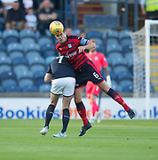 \Do\ heads clear from Raith&rsquo;s Greig Spence - Raith Rovers v Dundee, Betfred Cup at Starks Park, Kirkcaldy, Photo: David Young<br /> <br />  - &copy; David Young - www.davidyoungphoto.co.uk - email: davidyoungphoto@gmail.com