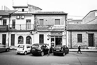 VIBO VALENTIA (VV) - 7 SETTEMBRE 2018:  La sede della Lega, aperta in occasione della visita di Matteo Salvini e chiusa da mesi, a Vibo Valentia il 7 settembre 2018.