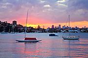 Sydney Harbour at sunset, Rose Bay, Sydney