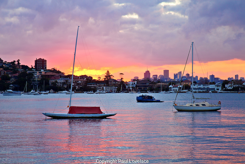 Sydney Harbour at sunset, Rose Bay, Sydney