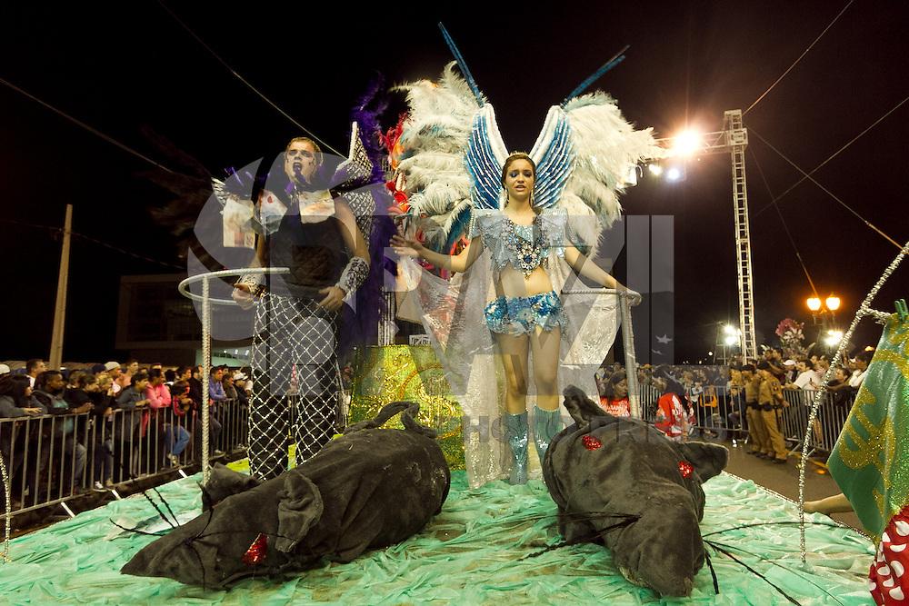 CURITIBA, PR, 09 DE FEVEREIRO DE 2013 - DESFILE DE CARNAVAL - Milhares de pessoas participaram na noite de sábado (9), na Avenida Cândido de Abreu, do desfile das Escolas de Sampa de Curitiba. Na avenida a Escola Os Internautas. (FOTO: ROBERTO DZIURA JR./BRAZIL PHOTOS PRESS)