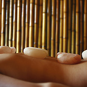 Hot stone therapy the Zen Spa in Hanoi, Vietnam.