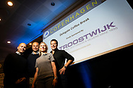 Event sponsors from Troostwijk pose for a group photo during a delegate coffee break at the 2019 INSOL Europe Annual Congress. The event was held at Scandic Copenhagen Hotel. <br /> <br /> © Images Copyright Copenhagen Event Photographer Matthew James