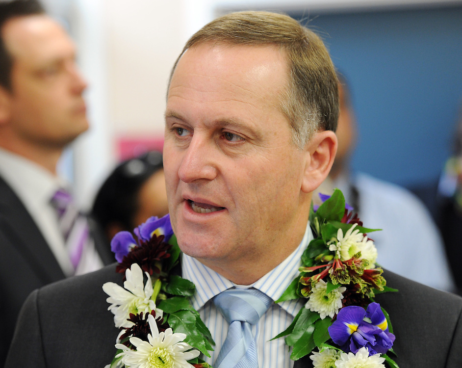 Prime Minister John Key at the announcement of Rheumatic Fever testing at schools, the Holy Family School, Porirua, New Zealand, Wednesday, May 09, 2012. Credit:SNPA / Ross Setford