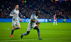 LONDON, ENGLAND - Monday, February 4, 2019: Liverpool's Sadio Mane celebrates scoring the first goal during the FA Premier League match between West Ham United FC and Liverpool FC at the London Stadium. (Pic by David Rawcliffe/Propaganda)