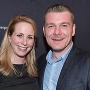 NLD/Amsterdam/20180222 - Premiere Vele Hemels boven de Zevende, Alexandra Alphenaar en partner Jaap van Andel