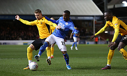 Siriki Dembele of Peterborough United battles with Jason Demetriou of Southend United - Mandatory by-line: Joe Dent/JMP - 11/02/2020 - FOOTBALL - Weston Homes Stadium - Peterborough, England - Peterborough United v Southend United - Sky Bet League One
