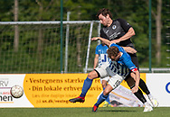 FODBOLD: Casper Porsgaard (Hornbæk IF) og Daniel Pless (Ballerup BK) under finalen i Seriepokalen mellem Hornbæk IF og Ballerup Boldklub den 20. maj 2019 på Brøndby Stadion. Foto: Claus Birch.