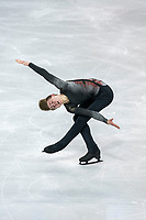 KELOWNA, BC - OCTOBER 26: Canadian figure skater Roman Sadovsky competes during the men's long program / free skate of Skate Canada International held at Prospera Place on October 26, 2019 in Kelowna, Canada. (Photo by Marissa Baecker/Shoot the Breeze)