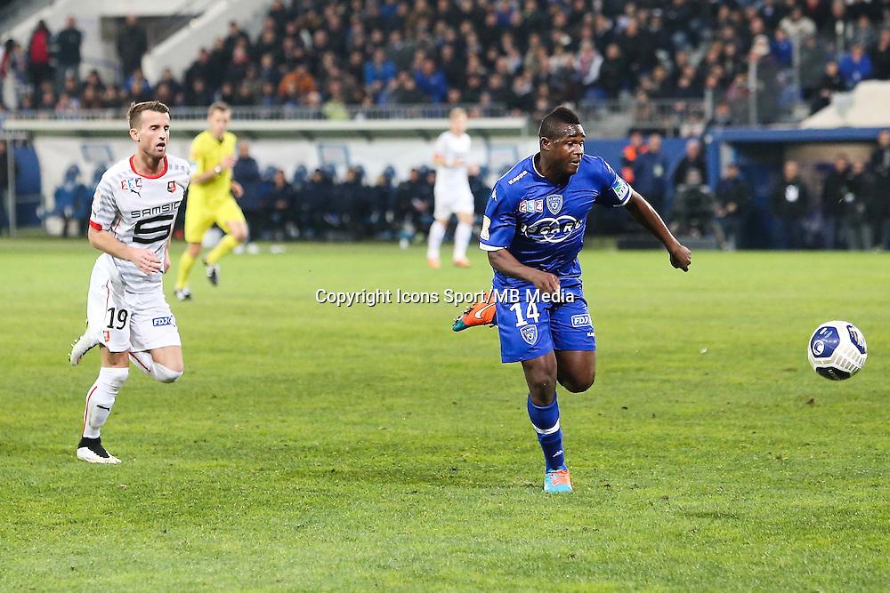 Famoussa KONE / Ermir LENJANI - 13.01.2015 - Bastia / Rennes - 1/4Finale Coupe de la Ligue -<br />Photo : Michel Maestracci / Icon Sport