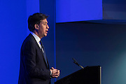 UNITED KINGDOM, London: 10 June 2016 Former Labour Party leader Ed Miliband delivers a key note speech at Queen Elizabeth II Conference Centre, as part of The UK in a Changing Europe annual conference. Rick Findler / Story Picture Agency