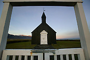 Church at Budir, Iceland (adjacent to Budahraun Nature Preserve).