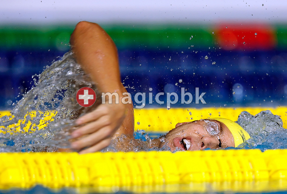 Grant Hackett of Australia competes in the men's 1500m freestyle heats in the Susie O'Neill pool at the FINA Swimming World Championships in Melbourne, Australia, Saturday 31 March 2007. (Photo by Patrick B. Kraemer / MAGICPBK)