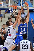 Niccolo Melli, Papagiannis<br /> Nazionale Italiana Maschile Senior<br /> Torneo Acropolis<br /> Grecia - Italia Greece - Italy<br /> FIP 2017<br /> Atene, 24/08/2017<br /> Foto Ciamillo - Castoria