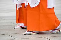 Japanese Women in Traditional Dress at Meiji Shrine