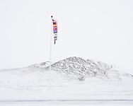 Flag pole, Skutustadir, Myvatn, Iceland