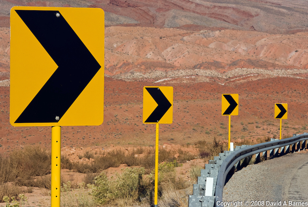 Road signs, highway, Southern Utah, USA