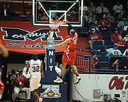 """Ole Miss vs. Illinois State's Jackie Carmichael (32) in a National Invitational Tournament game at the C.M. """"Tad"""" Smith Coliseum in Oxford, Miss. on Wednesday, March 14, 2012. Illinois State won 96-93 in overtime. (AP Photo/Oxford Eagle, Bruce Newman)"""