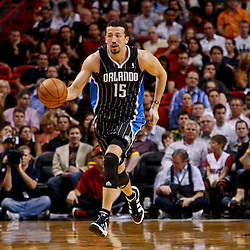 March 3, 2011; Miami, FL, USA; Orlando Magic small forward Hedo Turkoglu (15) during the first half against the Miami Heat at the American Airlines Arena. The Magic defeated the Heat 99-96.    Mandatory Credit: Derick E. Hingle