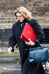London, November 14 2017. Secretary of State for International Development Penny Mordaunt attends the UK cabinet meeting at Downing Street. © Paul Davey