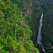 Mae Surin Waterfall. Nam Tok Mae Surin National Park has its area covering Amphoe Muang and Amphoe Khun Yuam. The main tourist spot 'Nam Tok Mae Surin' is located  in Ban Mae Surin. This beautiful one tiered water fall of 100 metre in height cascades down the cliff to the lower valley.