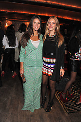 Left to right, MARGHERITA MISSONI and EUGENIE NIARCHOS at a party to celebrate the opening of the Muzungu Sisters Pop Up Store at Momo - an ethically sourced fashion brand  held at Momo, 25 Heddon Street, London on 27th October 2011.
