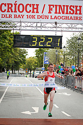 No fee for Repro:.Jason Fahy winner of the DLR Bay 10K road race in 32 minutes and 20 seconds . Pic Jason Clarke Photography