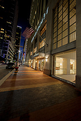 Stock photo of 1001 McKinney building face at night