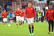 Chris Smalling of Manchester United during the Champions League Group B match between PSV Eindhoven and Manchester United at Philips Stadion, Eindhoven, Netherlands on 15 September 2015. Photo by Phil Duncan.