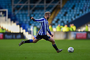 Sheffield Wednesday vice captain Barry Bannan with a shot on goal during the EFL Sky Bet Championship match between Sheffield Wednesday and Bristol City at Hillsborough, Sheffield, England on 22 December 2019.