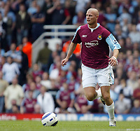 Photo: Chris Ratcliffe.<br /> West Ham United v Tottenham Hotspur. The Barclays Premiership. 07/05/2006.<br /> Paul Konchesky of West Ham.