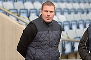 Bury Manager David Flitcroft during the Sky Bet League 1 match between Coventry City and Bury at the Ricoh Arena, Coventry, England on 13 February 2016. Photo by Dennis Goodwin.