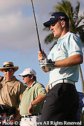 England's Justin Rose tees off during a practice round prior to The 2005 Sony Open In Hawaii. The event was held at The Waialae Country Club in Honolulu.