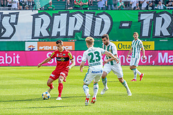 25.05.2019, Allianz Stadion, Wien, AUT, 1. FBL, SK Rapid Wien vs Cashpoint SCR Altach, Qualifikationsgruppe, 32. Spieltag, im Bild v.l. Manfred Fischer (SCR Altach), Manuel Thurnwald (Rapid Wien), Manuel Martic (Rapid Wien) // during the tipico Bundesliga qualification group 32nd round match between SK Rapid Wien and Cashpoint SCR Altach at the Allianz Stadion in Wien, Austria on 2019/05/25. EXPA Pictures © 2019, PhotoCredit: EXPA/ Lukas Huter