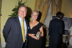 DAVID & EMMA BANKS at Ambassador Earle Mack's 60's reunion party held at The Ritz Hotel, London on 18th June 2012.