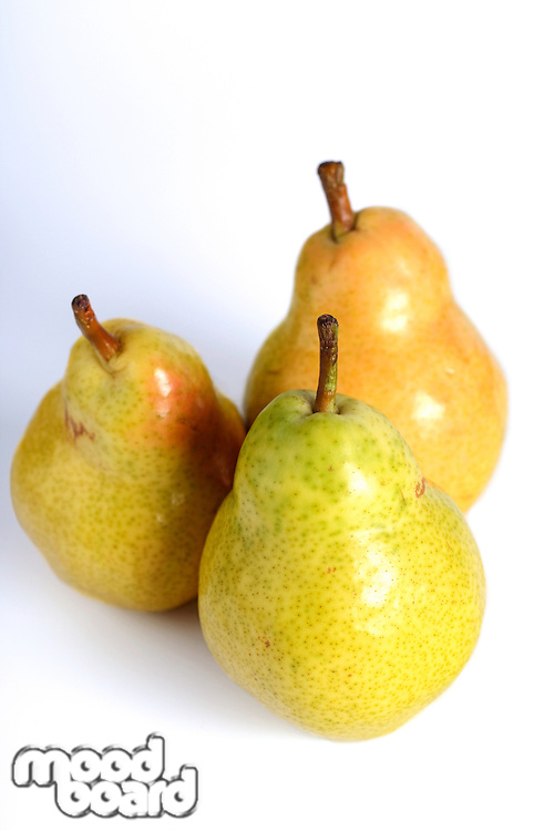 Studio shot of pears on white background