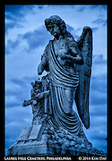 Blue Hour At Laurel Hill Cemetary<br /> Philadephia, PA<br /> July 2014