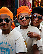 Three Dudes with Shades on One Motorbike - Hyderabad, India