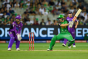 14th January 2019, Melbourne Cricket Ground, Melbourne, Australia; Australian Big Bash Cricket, Melbourne Stars versus Hobart Hurricanes; Sebastian Gotch of the Melbourne Stars cuts the ball