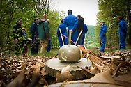 Land mine training for the Hostile Environments and Emeregency First Aid Training course for journalists deploying to war zones in Strausburg, VA. (Model Released)