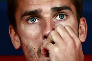 Atletico Madrid's French forward Antoine Griezmann gestures as he attends the 2018 International Champions Cup match between Atletico Madrid and Inter Milan at the Wanda Metropolitano in Madrid, Spain on August 11, 2018 - Picture by Benjamin Cremel / ProSportsImages / DPPI