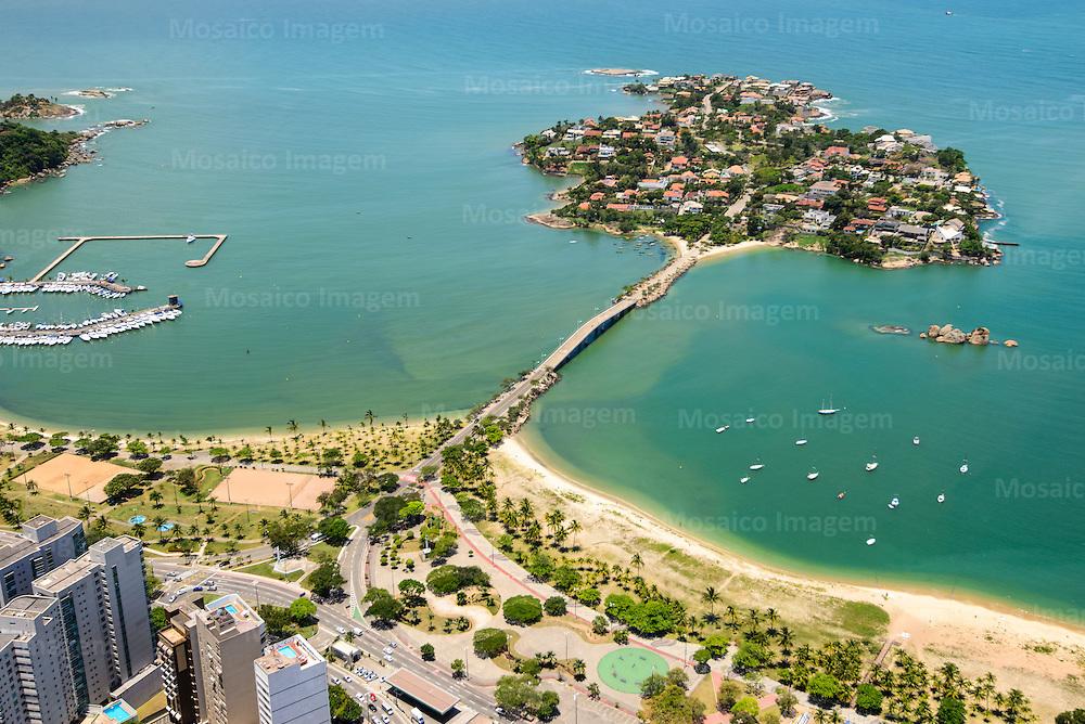 Brasil - Espirito Santo - Vitoria - Vista aerea da Praia do Canto com Ilha do Frade ao fundo - Foto: Gabriel Lordello/ Mosaico Imagem