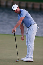 March 15, 2019 - Ponte Vedra Beach, FL, U.S. - PONTE VEDRA BEACH, FL - MARCH 15: Rory McIlroy of Northern Ireland reacts after a putt on the 18th hole during the second round of THE PLAYERS Championship on March 15, 2019 on the Stadium Course at TPC Sawgrass in Ponte Vedra Beach, Fl.  (Photo by David Rosenblum/Icon Sportswire) (Credit Image: © David Rosenblum/Icon SMI via ZUMA Press)