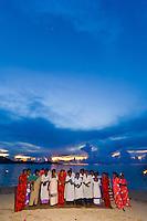 Naqumu Village Church Choir performing on the beach at Nukubati Island Resort, Fiji Islands