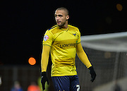 Oxford United Forward Jordan Bowery during the Sky Bet League 2 match between Oxford United and Northampton Town at the Kassam Stadium, Oxford, England on 16 February 2016. Photo by Adam Rivers.