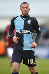 MICHAEL HARRIMAN WYCOMBE WANDERESNorthampton Town v Wycombe Wanderers, Sixfields Stadium, Sky Bet League 2, Saturday 20th Febuary 2016